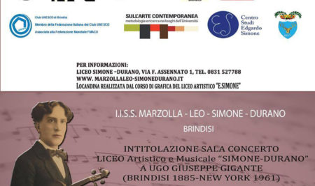 Intitolazione Sala Concerto del Liceo Simone-Durano