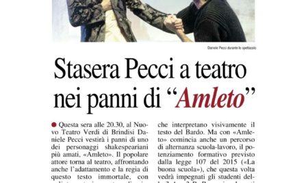 "Spettacolo teatrale- Teatro Verdi ""Amleto"""