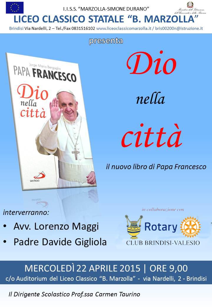 """""""Dio nella città"""" di Papa Francesco"""