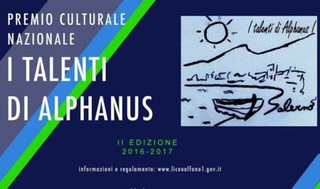 "II EDIZIONE PREMIO CULTURALE NAZIONALE ""I Talenti di Alphanus"" – 2016/17"