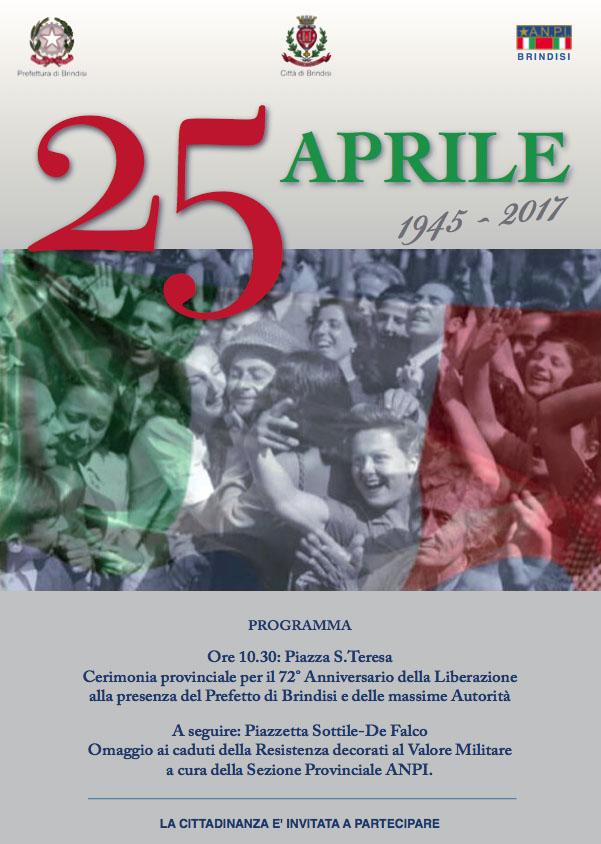 """Esibizione degli alunni del Liceo Musicale """"Durano"""" durante la commemorazione del 25 Aprile 2017"""