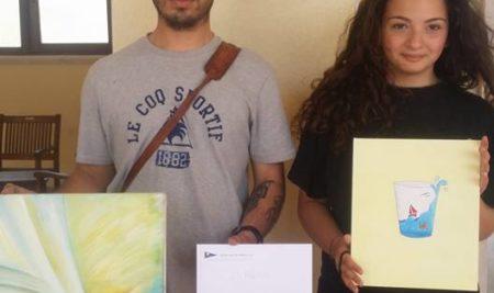 Gianluca Manzo e Lorenza Medico vincono il 1° e il 2° premio all' Estemporanea di pittura organizzata dal circolo della vela