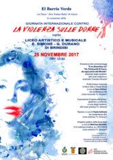 Locandina Evento 25 novembre Alezio (Le) – Liceo Artistico e Musicale
