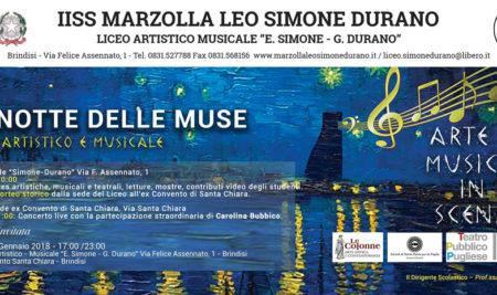 """Il Liceo Artistico-Musicale """"Simone Durano"""" presenta """"La Notte delle Muse"""""""