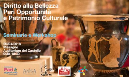 """Workshop: """"Diritto alla bellezza, pari opportunità e Patrimonio culturale"""""""