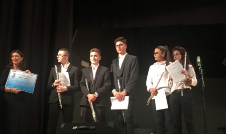 """Gli alunni della classe di flauto si esibiscono durante la XXIX rassegna Musicale Nazionale  """" Jonio in Musica"""""""