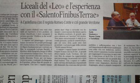 Il Liceo Leo sulla Gazzetta del Mezzogiorno.