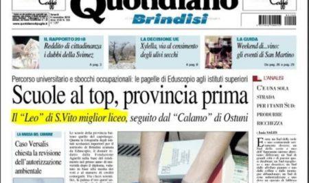 Il Liceo Leo sulle pagine del Quotidiano.