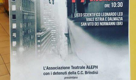 """IL TEATRO DEI DETENUTI"""": IL PROGETTO DEL LICEO LEO DI SAN VITO E LA CASA CIRCONDARIALE DI BRINDISI"""