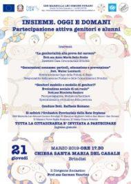 """IISS Marzolla Leo Simone Durano organizza l'incontro """"Insieme. Oggi e domani"""""""
