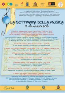 Settimana della musica  dal 13 al 18 maggio