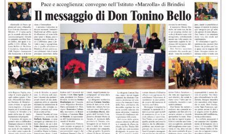 """""""Sentinelle di pace"""" – Al Marzolla il messaggio di Don Tonino Bello"""