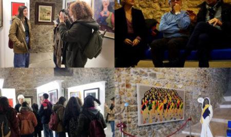 """Gli studenti del Liceo Artistico in visita didattica alla """"Mostra Rositani – Grande"""" presso i Bastioni San Giacomo"""