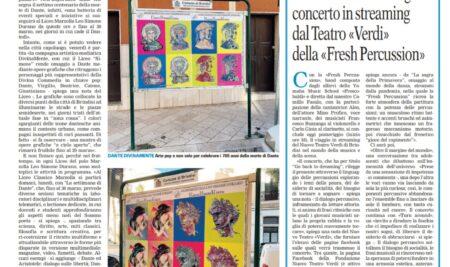 """""""Dante DivinaMente"""" sulla Gazzetta del Mezzogiorno"""