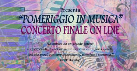 Concerto on line Pomeriggio in musica 2020-21