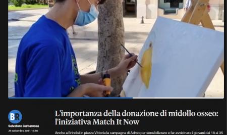 Attività di sensibilizzazione per la donazione del midollo osseo